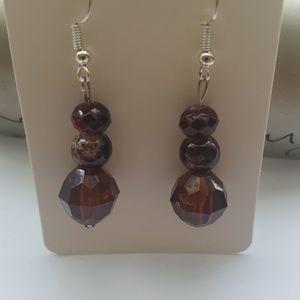 Red❤️ Garnet/ Speckled/ Brown/ Crystal Earrings 💎